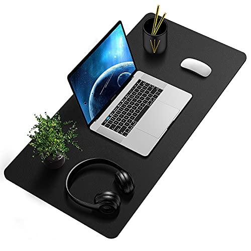 Tappetino Scrivania, Sottomano da Ufficio, Tappetino da Tavolo, 80cm x 40 cm antiscivolo tappetino mouse da scrivania in pelle PU impermeabile sottomano,Tappetino per Laptop