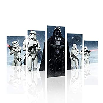 5 Piece Star Wars Darth Vader Painting for Living Room Home Decor Canvas Art Wall Poster  No Frame  Unframed 50 inch X 30 inch