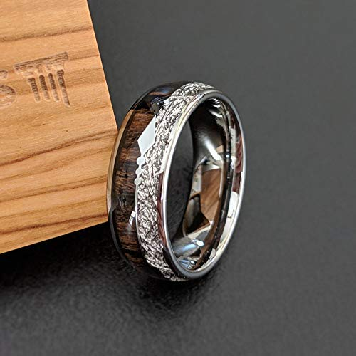 meteorite wedding ring