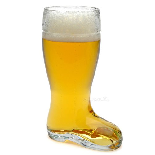 Authentic German Beer Boot (18 oz) by HomeWetBar - Great Gift for Beer Lovers, Father's Day Gift
