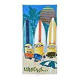 Asditex Toalla de Playa Minions Surf 70x140 cm- 100% Algodón