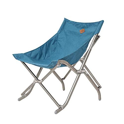 fácil de cargar Silla para acampar Silla plegable al aire libre Portátil Portátil Portátil Flojo Playa Camping Backrest Fishing Moon Silla Fácil de guardar (Color: Negro, Tamaño: 76x50x64cm)