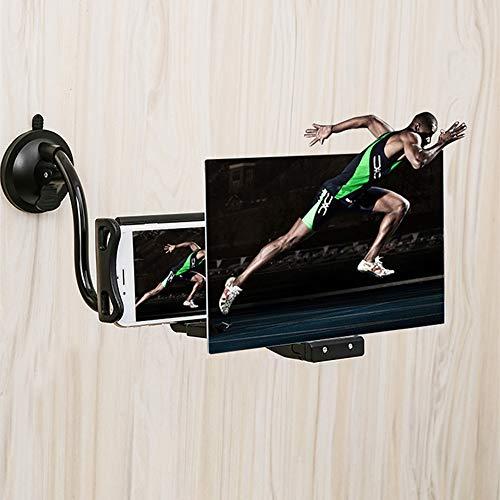 StAuoPK 8 inch High Definition mobiele telefoon scherm versterker creatieve zuignap mobiele telefoon houder vergrootglas Lazy Holder