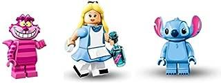 LEGO Alice in Wonderland, Shesher Cat, Stitch Minifigures Disney Figures