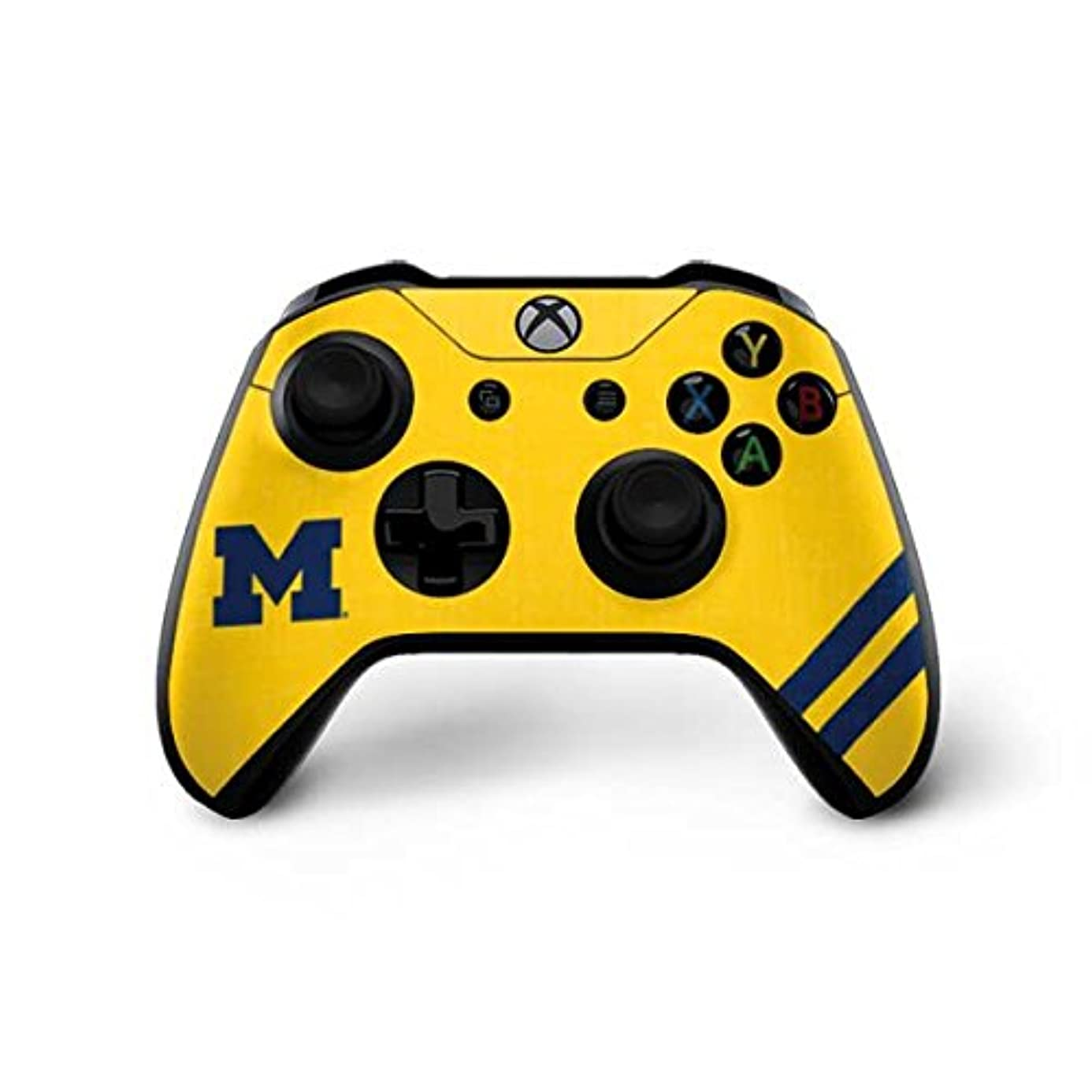 Skinit Michigan Large Logo Xbox One X Controller Skin - Officially Licensed College Gaming Decal - Ultra Thin, Lightweight Vinyl Decal Protection
