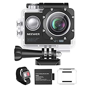 Neewer G1 Ultra HD 4K Action Camera 12MP, 98 ft Underwater Waterproof Camera 170 Degree Wide Angle WiFi Sports Cam High-tech Sensor and 2-inch Screen with Battery and Mounting Accessories Kit (Black) by Neewer