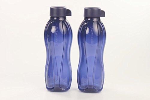 TUPPERWARE (2) Eco 500 ml Drehverschluss To GoTrinkflasche Ecoflasche dunkelblau 29498