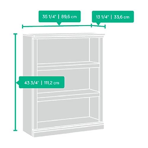 Sauder 3-Shelf Bookcase, Oiled Oak finish