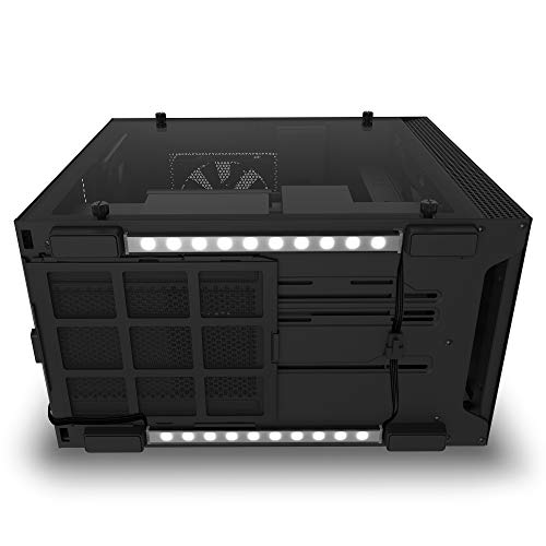 NZXT Underglow Accessory - AH-2UGKD-B1 - Two 200mm RGB LED Strips - 10 LEDs Per Strip - CAM-Powered - Immersive Desktop Lighting System