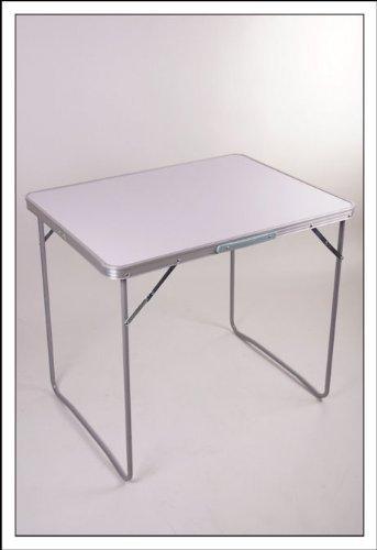 Spetebo Stabiler Koffertisch M mit Alurahmen und melaminbeschichteter Oberfläche - Größe 70 x 50 x 60 cm