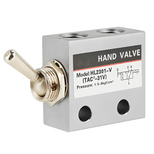 Kippschalterventil Pheumatisch 3 Position 2 Anschluss Mechanisches Ventil Metallkippschalter HL2301