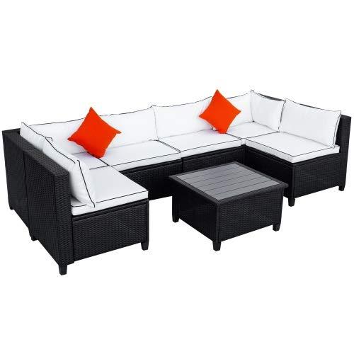 Yi-xir design classico Consegna dissoluta in pochi giorni Combinazione di patio in vimini rattan con cuscino e cuscino al di fuori del kit di mobili Perfetto e comodo