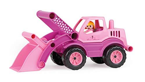 Lena 04103 - Prinzessin von Hohenzollern Schaufellader, rosa / pink, ca. 33 cm, Spielfahrzeug für Kinder ab 2 Jahre, robuster Radlader mit Stahlachsen, verriegelbarer Schaufel und Spielfigur Mädchen