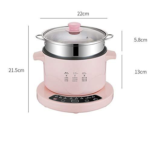 KYC Wok de Cocina eléctrica doméstica Multifuncional, Olla integrada para Estudiantes de Fideos y arroz, pequeña Olla eléctrica con Tipo Separado,