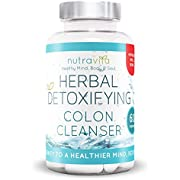 Colon Cleanse Herbal Detox by Nutravita - UK Manufactured Highest Quality Supplement - Vegetarian Friendly - Great Value - Order Today (60 x Colon Cleanse Capsules)