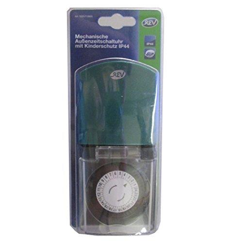 REV Ritter 0025710603 Z-Uhr mechanisch Tag IP44 prof., schwarz / grün