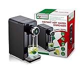 MAGNANI Distributeur eau chaude noir acier 2,5 L, Fontaine a eau chaude électrique, Machine à thé instantanée 100° en 5 secondes, 2200-2600 W