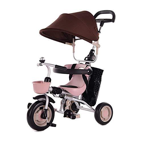HYDDG Triciclos para niños Triciclo Bicicleta Bebé Pedal Coche Ligero Plegable Carretilla 2-5 años Antiguo Color Verde