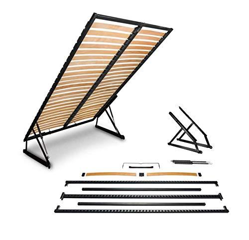 emoebelbeschlaege Lattenrost für Bettkasten Lattenrahmen klappbar Stabiler Lattenrahmen für Bett prima-online (160x200cm)