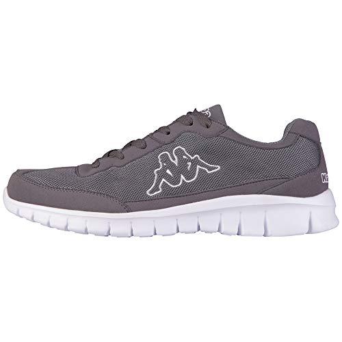 Kappa Kappa ROCKET Low Top | Sneakers für Sport & Freizeit | angesagter Kappa-Style für Modebewusste Damen & Herren | atmungsaktiv & stabil | hoher Tragekomfort | Grau (1310 Anthra/White), Größe 44 EU