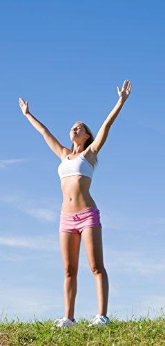 Deurbehang, deurposter, zelfklevend, vrouw bij yoga, 90 x 205 cm en 100 x 210 cm, fotobehang, poster, deurfolie, behang, T00060 90cm x 205cm – 1-teilig