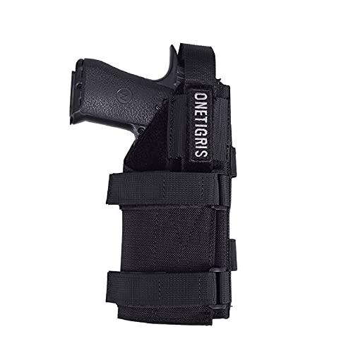 OneTigris Étui de pistolet Molle pour ceinturon en nylon 1000D, Schwarz ohne Magazintasche, Größe: 19 * 9,5cm