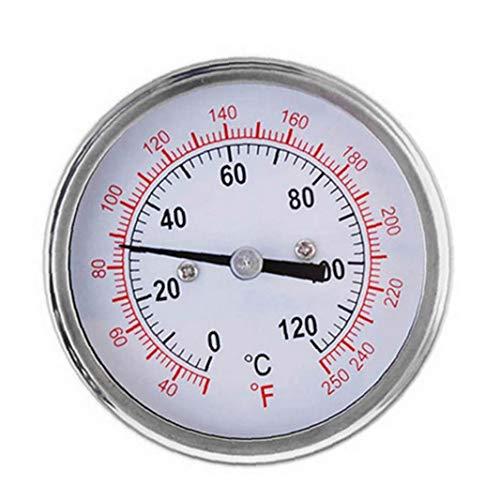 JRXyDfxn Professionelle Küche Ofen Grillthermometer Hochtemperatur Bimetal Überwachung Kochen Thermometer 0-120 ° C Temperaturbereich TS-BX39 Weiß