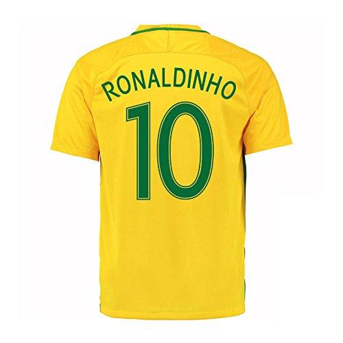 2016-17 Brazil Home Shirt (Ronaldinho 10)