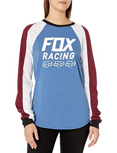 Fox Racing Damen Langarmshirt, Damen, Hemd, Overdrive Longsleeve TOP, blau, X-Large