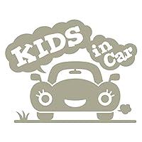 imoninn KIDS in car ステッカー 【シンプル版】 No.25 クルマさん (グレー色)