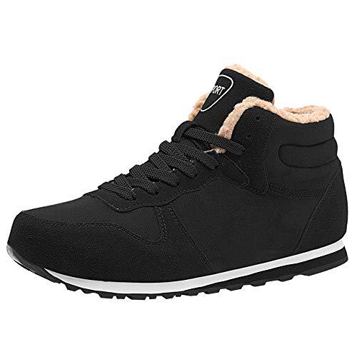 Chaussures Bottes Hiver De Neige Homme Overmal Chaussure de Sport en Plein Air Automne et Hiver Mode Casual Chaud Hauteur Cheville Antidérapant Chaussure de Sport Boots Sneakers