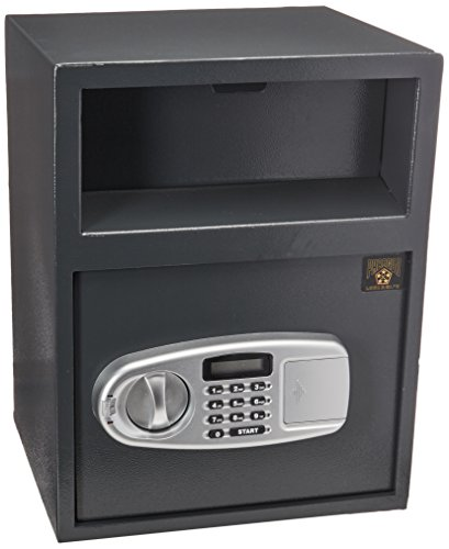 Digital Depository Safe – Electronic Drop Box with Keypad, 2 Manual Override Keys – Deposit Cash Easily – For Home or Business by Paragon
