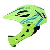 Casco de bicicleta para niños desmontable, Casco de equitación de equilibrio Protección completa de la cara con mentón, Montar con casco de luz trasera, para patineta, Montar en scooter