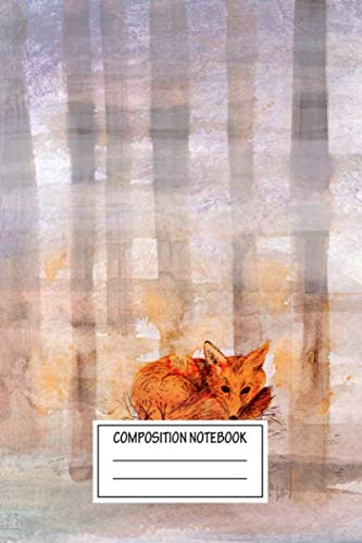 Composition Notebook: Animals Foggy Day Drawings Of Animals Wide Ruled Note Book, Diary, Planner, Journal for Writing