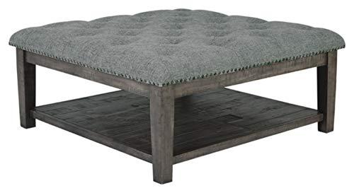 Signature Design by Ashley - Borlofield Upholstered Ottoman Coffee Table, Gray