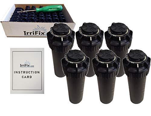 IrriFix Rain Bird Rociador de jefes 5000Serie seal-a-matic Bundle–6Pack 5004pcsam Sam rotores boquilla caja incluye 6boquilla árboles, 1rotortool destornillador, hoja de instrucciones