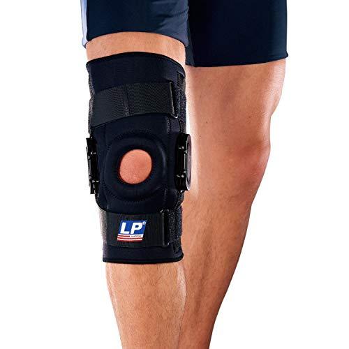 LP Support Knieorthese 710A mit polyzentrischen Gelenkschienen, Größe:L, Farbe:schwarz