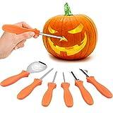 VZATT Kit Intaglio Zucca Halloween, Strumenti Inossidabile Professionale per Intagliare Zucca, 4 Pezzi Set di Intaglio di Zucca per Adulti e Bambini