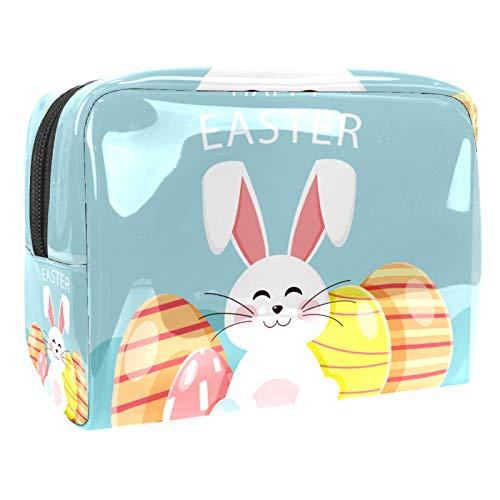 Bolsa de cosméticos para Mujeres Feliz Huevo de Conejito de Pascua Bolsas de Maquillaje espaciosas Neceser de Viaje Organizador de Accesorios
