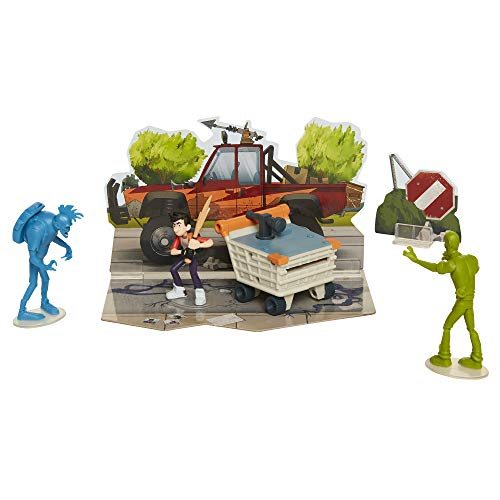 The Last Kids On Earth Toys Jack Action Figure 2.5' - Hero Pack Playset with 2 Zombies & Disk Launcher