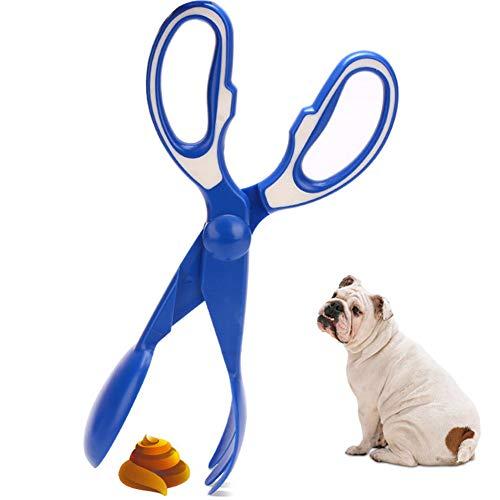 GuangLiu Recogedor Caca Perro Recogedor Excrementos Perro Caca de Perro Bin Caca de Perro Bolas Caca de Abrazadera de Scoop Caca de Perro Scooper Blue