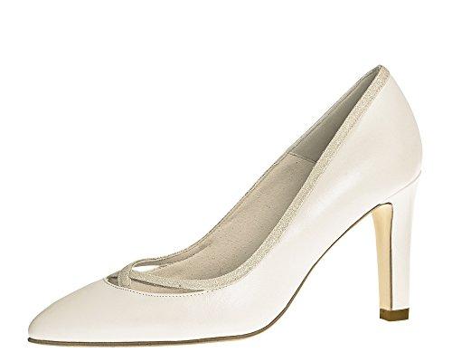Fiarucci Brautschuhe Dunya - Stiletto High Heels - Ivory mit Glitzer Leder - Gr 39 EU 6 UK