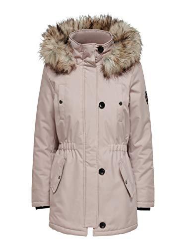 ONLY Damen ONLIRIS FUR Winter Parka CC OTW Jacke, Rose Dust, XXL