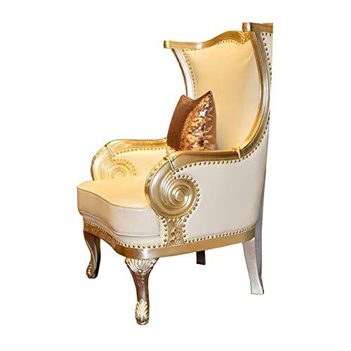 Sedia per il tempo libero mobili per la villa camera da letto sedia in pelle di legno studio sedia monoposto divano per il tempo libero