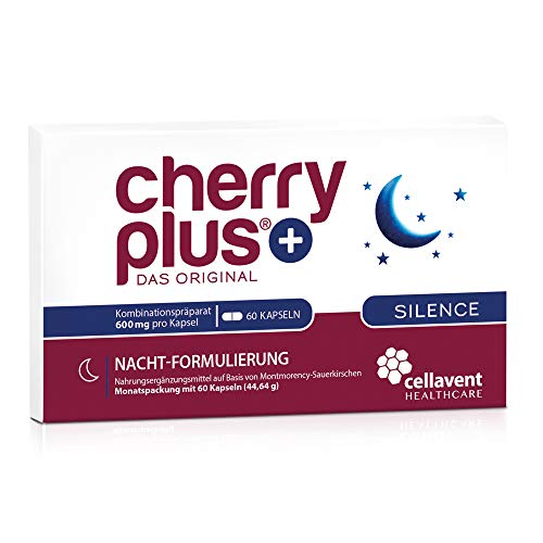 Cherry PLUS Silence: Kombi aus der Montmorency-Sauerkirsche (50:1), Ashwaganda und L-Tryptophan - mit Magnesium & Zink