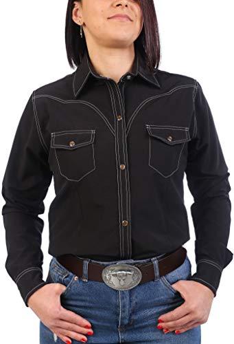 Last Rebels Country - Camisa para mujer, color negro Negro X-Large