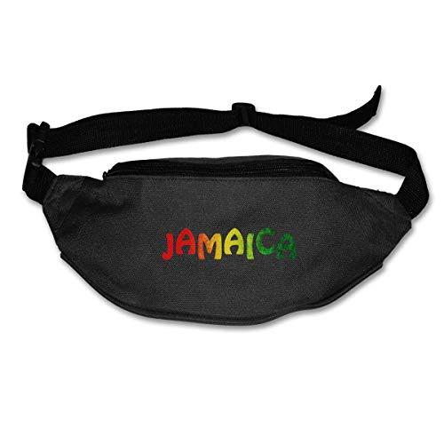 Riñonera Deportivo Reggae de Jamaica Bolso Cintura Cinturón Ajustable Running Belt Bolsa de Correr