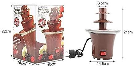 Digitalanzeige Schokoladenbrunnen YUNRUX 5 Etagen Schmelzen Schokofondue DIY Schokobrunnen Schokoladenfont/äne mit Lebensmittelechte F/örderschnecke Edelstahl-Kaskaden f/ür Perfekten Schokoladenfluss