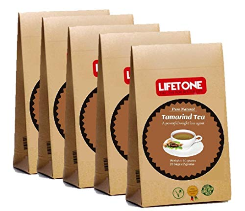 lifetone the tea for better life,Tamarindentee | Quelle von HCA | Tee zum Abnehmen | Detox Weight Loss Diet Fettverbrennung Skinny Tea | 80 Teebeutel