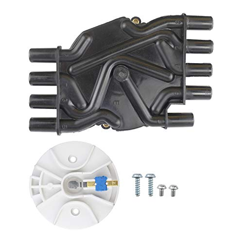 Ignition Distributor Cap and Rotor Kit, Compatible with Chevrolet GMC Cadillac Vortec V8 5.0l 5.7l 7.4l 305/350 engine Compatible Part Number 10452459 DR474 DR331
